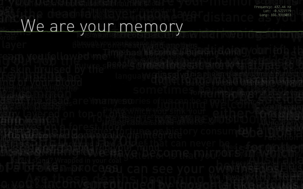 We are your memory